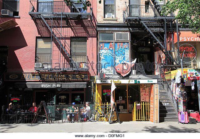 St. Marks Place, Greenwich Village, East Village, Manhattan, New York City, USA - Stock Image