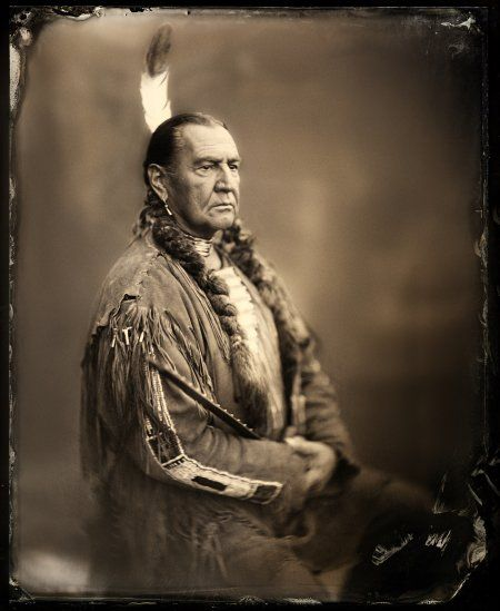 August Schellenberg in Bury My Heart at Wounded Knee. He played Sitting Bull (I think). Love the look of these photos.