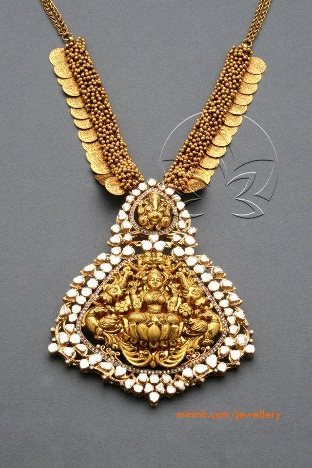 antique-lakshmi-pendant-necklace