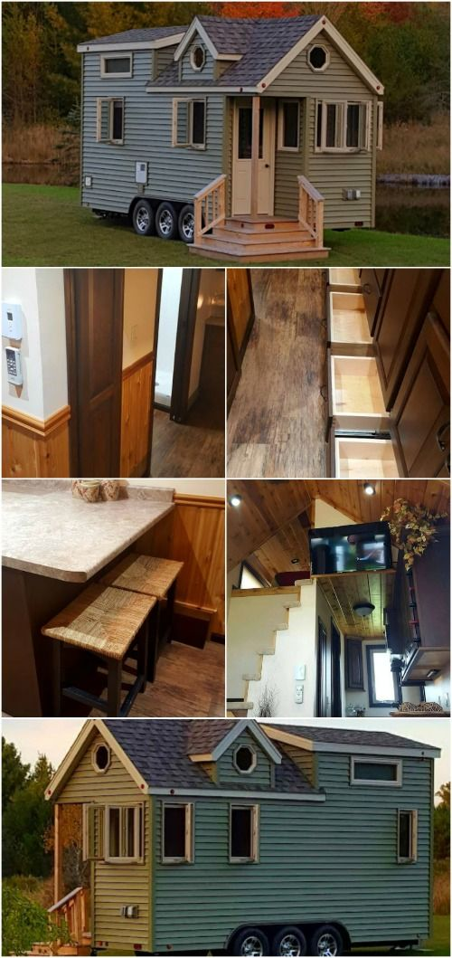 """Enjoy the """"Single Life"""" in this 234 Square Foot Tiny House by Northern Tiny Living - For some people, the """"single life"""" is something to be avoided, however, this next tiny house was given the same name and it has us charmed with its sweet design and charm. The 234 square foot house is built by Northern Tiny Living on a triple axel trailer. The exterior is adorable with vinyl siding and details like multiple eaves and octagonal windows that make the home a welcoming sight. This home was…"""