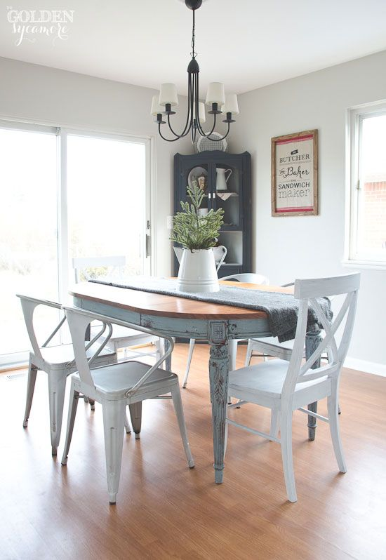 blue metal dining chairs. Light blue milk painted dining table with mix matching chairs 1560 best Dining images on Pinterest  Chairs Furniture and