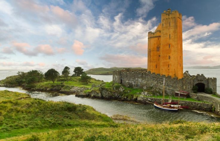 Kilcoe Castle, West Cork. Now owned by Jeremy Irons ...
