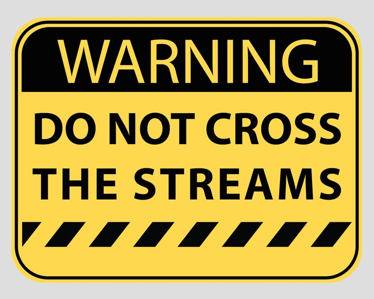 Ghostbusters Party Sign Warning Do Not Cross the Streams.