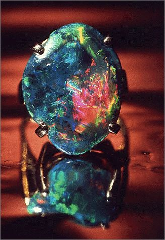 Black Opal With Brilliant Vivid Colors