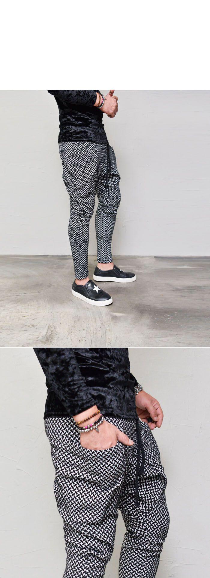 Big Pocket Jacquard Baggy-Sweatpants 317 - GUYLOOK
