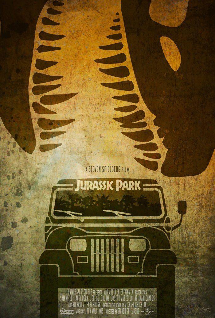 Resultado de imagen para fan art poster jurassic park