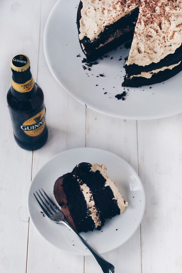 Vegan Desserts | Chocolate Guinness Cake with Baileys Buttercream Frosting