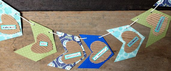 Collaged Paper Chevron Arrow Banner by littleseaweeds on Etsy