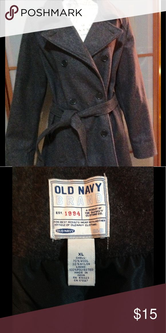 "Old Navy Pea Coat Warm Wool Grey XL Great condition and very warm. Length approx 31"" wool and nylon. Old Navy Jackets & Coats Pea Coats"