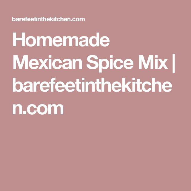 Homemade Mexican Spice Mix | barefeetinthekitchen.com
