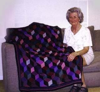 Tumbling Blocks Crochet Afghan Pattern Free : Tumbling blocks, Afghans and Afghan patterns on Pinterest