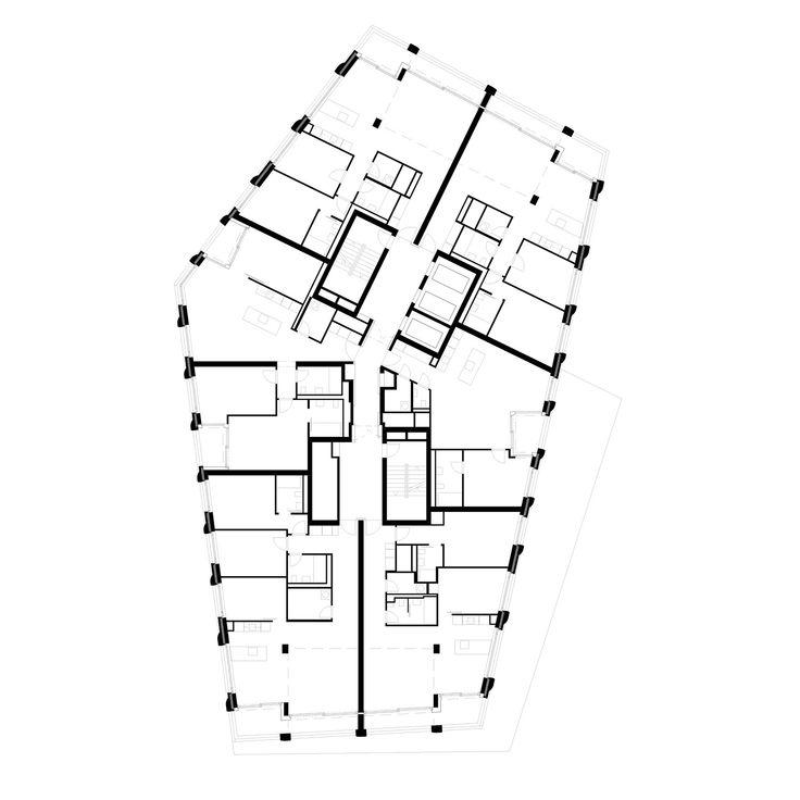 123 besten architektur grundrisse bilder auf pinterest. Black Bedroom Furniture Sets. Home Design Ideas