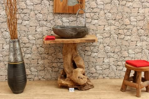 Washbasin with base cabinet No. 58155.AK.147L Substructure Bath Bathroom cabinet Washbasin Washbasin Washbasin Washbasin Basin Solid wood Bathroom furniture Washbasin Basin cabinet Tree trunk Design panel Bathroom ideas Console Root Teak Images preview