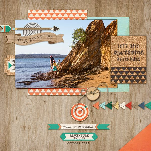 High Adventure Complete Kit - Snap Click Supply Co. #digitalscrapbooking