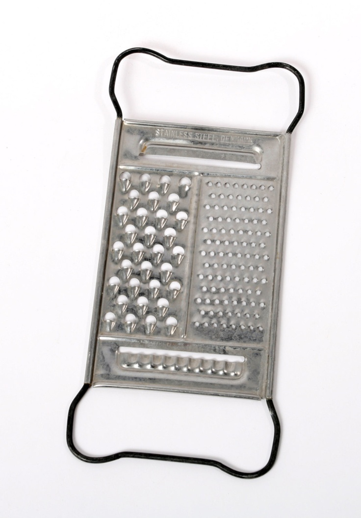 grater vintage danish stainless steel retro scandinavian kitchen cookware. $18
