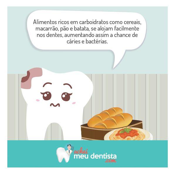 Evite consumir em excesso esses alimentos e faça uma boa higienização bucal, ao menos, 3 vezes ao dia!  Curta nossa página: www.facebook.com/Acheimeudentista