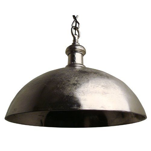 Fancy LightMakers ANDORA Hanging Lamp in Raw Nickel Medium by Light and Living http