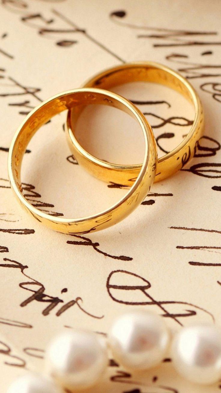Love Romance Ring Pair On Book IPhone 6 Plus Wallpaper
