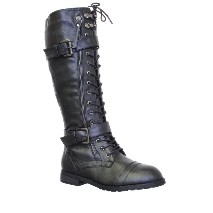 High Boots , 12 Best Rated womens knee high combat boots : WOMENS KNEE HIGH LACE UP MILITARY ARMY COMBAT BOOTS SIZE