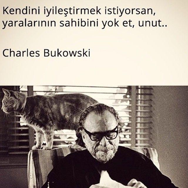 Kendini iyileştirmek istiyorsan, yaralarının sahibini yok et, unut...   - Charles Bukowski