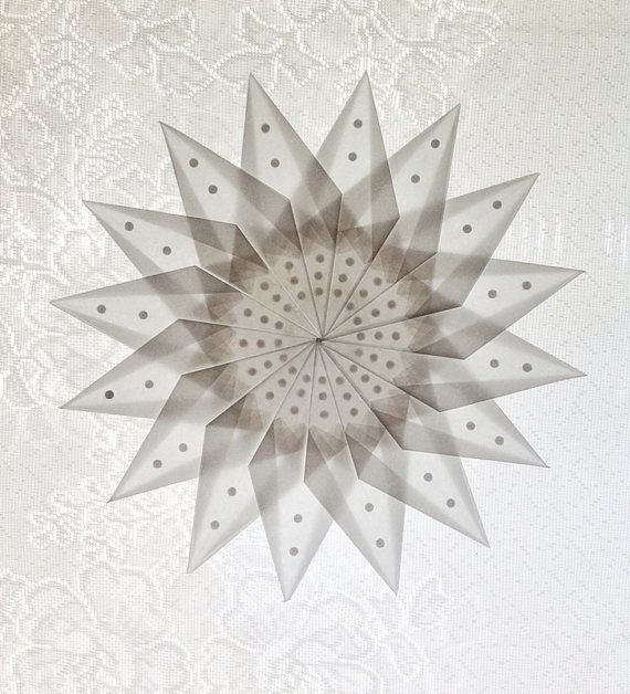 December ~ Advent ~ Week One: The Light of Crystal & Stone ~ White Window Star