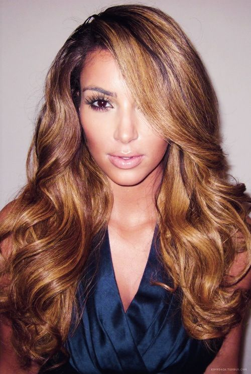 Caramel Hair Colour  Nails Makeup Beauty  Pinterest  Kim Kardashian Ca