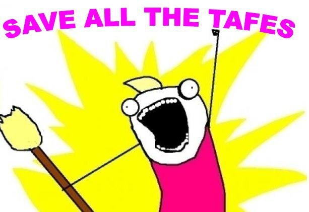 """Blue Mountains TAFE Students """"Save all the TAFES"""""""