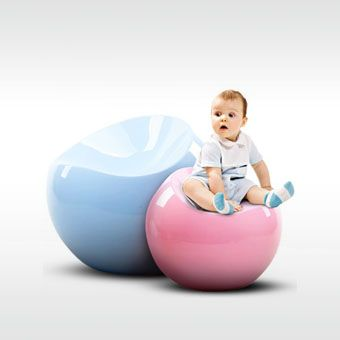 Blue Pastel Ball Chair and Pink Pastel Baby Ball Chair