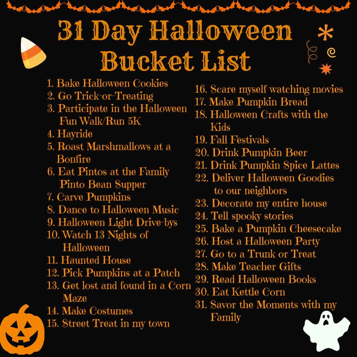 Halloween Bucket List: 31 Things to Do in October 2014 | Twin Tested ...