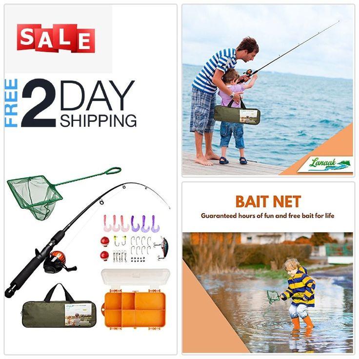 Boys girls beginner tackle box starter fishing kit set