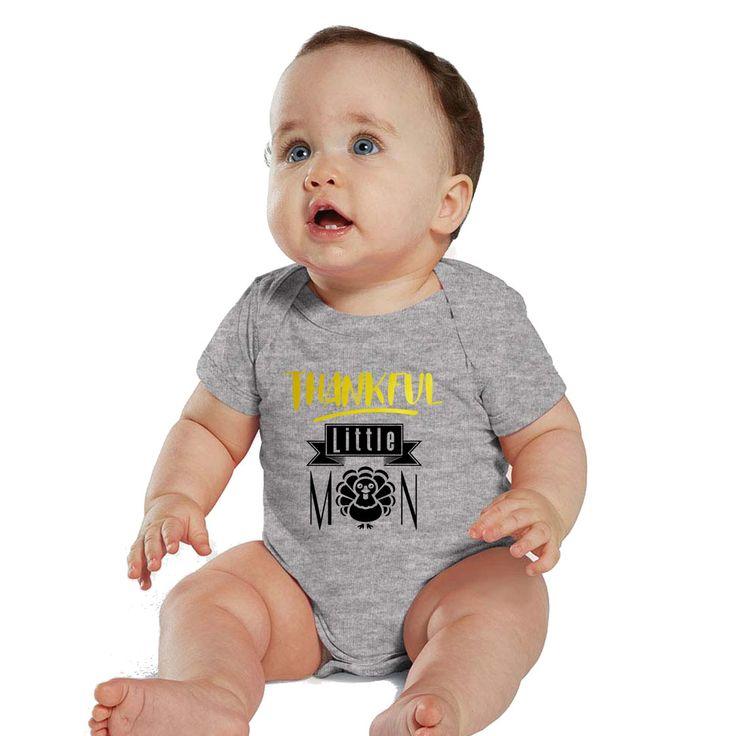 Thankful Little Man baby Heather bodysuit or boy shirt by bodysuitsbynany on Etsy