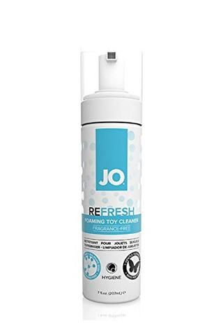 JO Body Toy Cleaner 207ml - Antibacterial, non-greasy formula is gentle and odorless  -Safe for use with all toys  -Contains No Alcohol, Glycerin, Parabens or Petro Chemicals  -Pump dispenses easy-to-use foam  -Body Safe