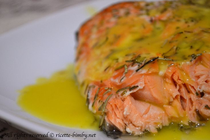 Salmone con salsa all'arancia Bimby • Ricette Bimby