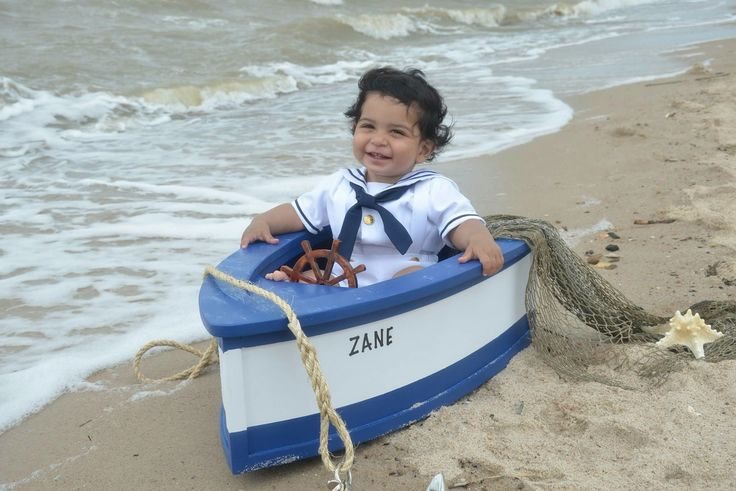 Zane's first birthday pictures nautical boat captain