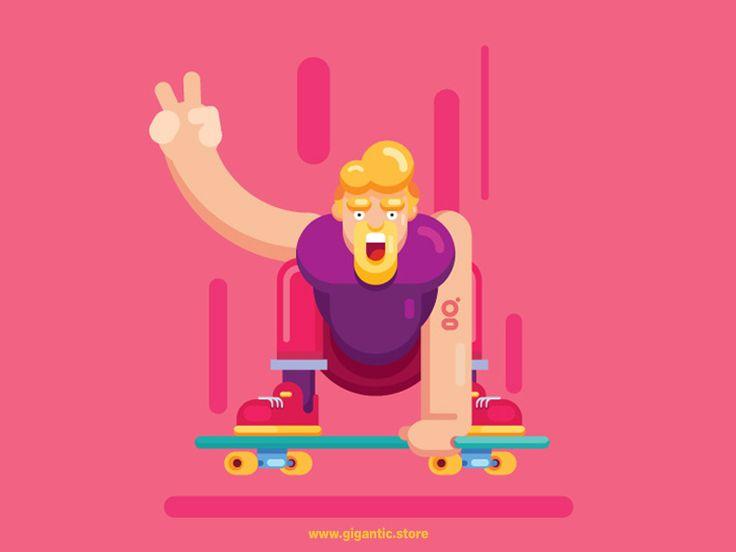 Character Design Color Palette : Best gigantic flat design illustrations images on