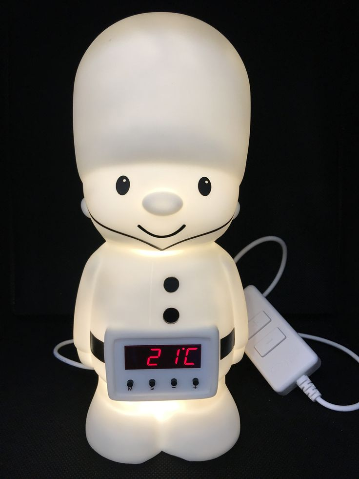 This little chap is called Colonel Comfort, one of the nightlight designs by Cozyglo and he's just fab, standing guard over my little one each night!