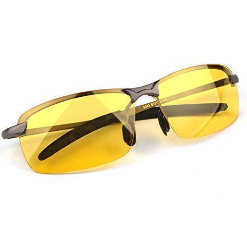 62fe68b46db The Best Safety Glasses for Driving Risk Reducing HD Night Vision Polarized  Goggles Anti-Glare