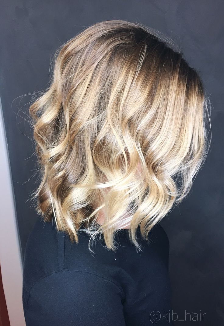 Sandy beige blonde. Blonde balayage. Sun kissed baby lights Angled lob!