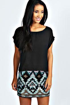 Teegan Pastel #Sequin Mini Skirt #tribal Get 7% cash back http://www.stackdealz.com/deals/Boohoo-com-Coupon-Codes-and-Discounts--/