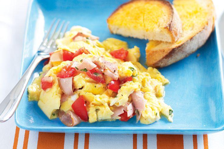 Pizza scrambled eggs #toddler #kids http://www.taste.com.au/recipes/21698/pizza+scrambled+eggs