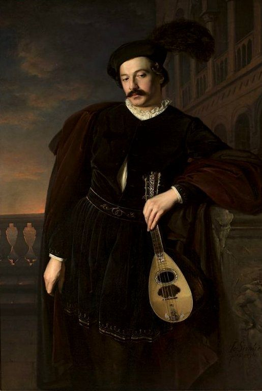 Józef Simmler (Polish,1823-1868) - Portrait of singer Wilhelm Troszel as Don Juan. 1846.