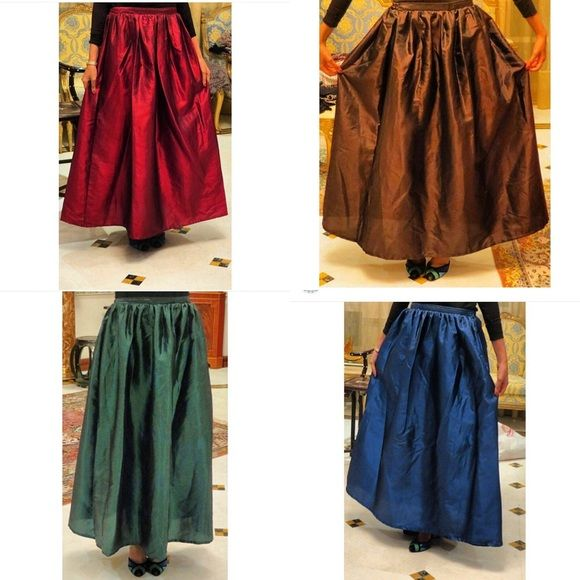 Metallic Skirt in four colors New Metallic Skirts , Available in free size, price: 51$ Skirts Maxi
