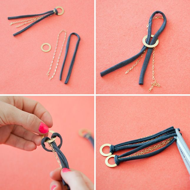 15 Easy Ways to Turn T-Shirts into Jewelry | Brit + Co.