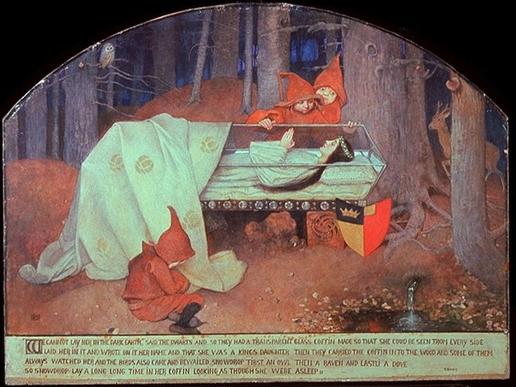 Snow White, circa 1880-1890, mixed media, 72 × 95 cm, Wallraf-Richartz-Museum