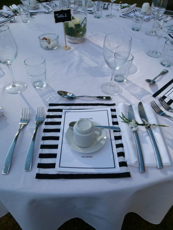 Stripy place setting
