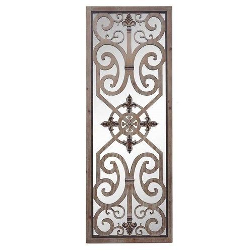 Decorative Wood Carving Rectangle Wall Mirror $379.95
