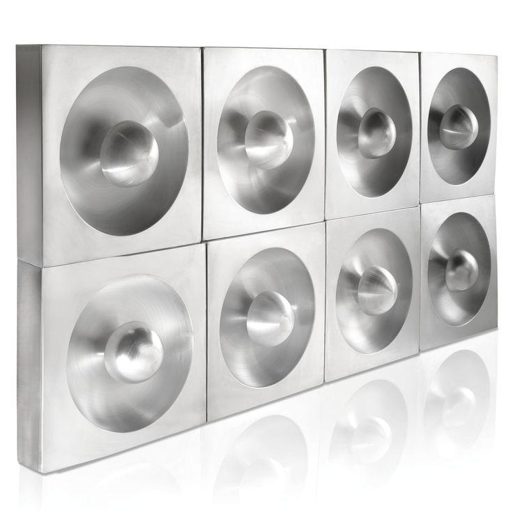 panton lighting. verner panton a set of eight u0027spiegelu0027 wall lights brushed aluminium quantity 8 lighting