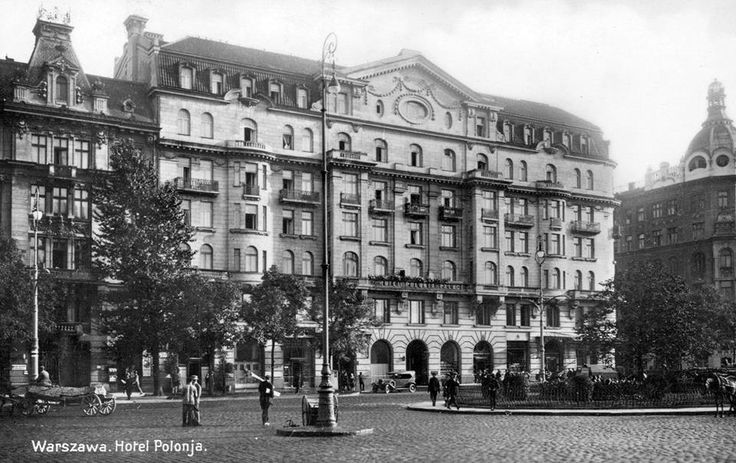 "Warszawa - Hotel ""Polonia"" 1930 r. https://www.facebook.com/479667668730827/photos/a.4831109"