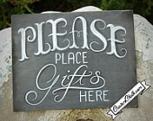 Wedding Gift Table Chalkboard Sign - Wedding Sign - Gift Table Sign