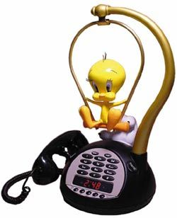 Tweety Talking Alarm Clock Radio Telephone